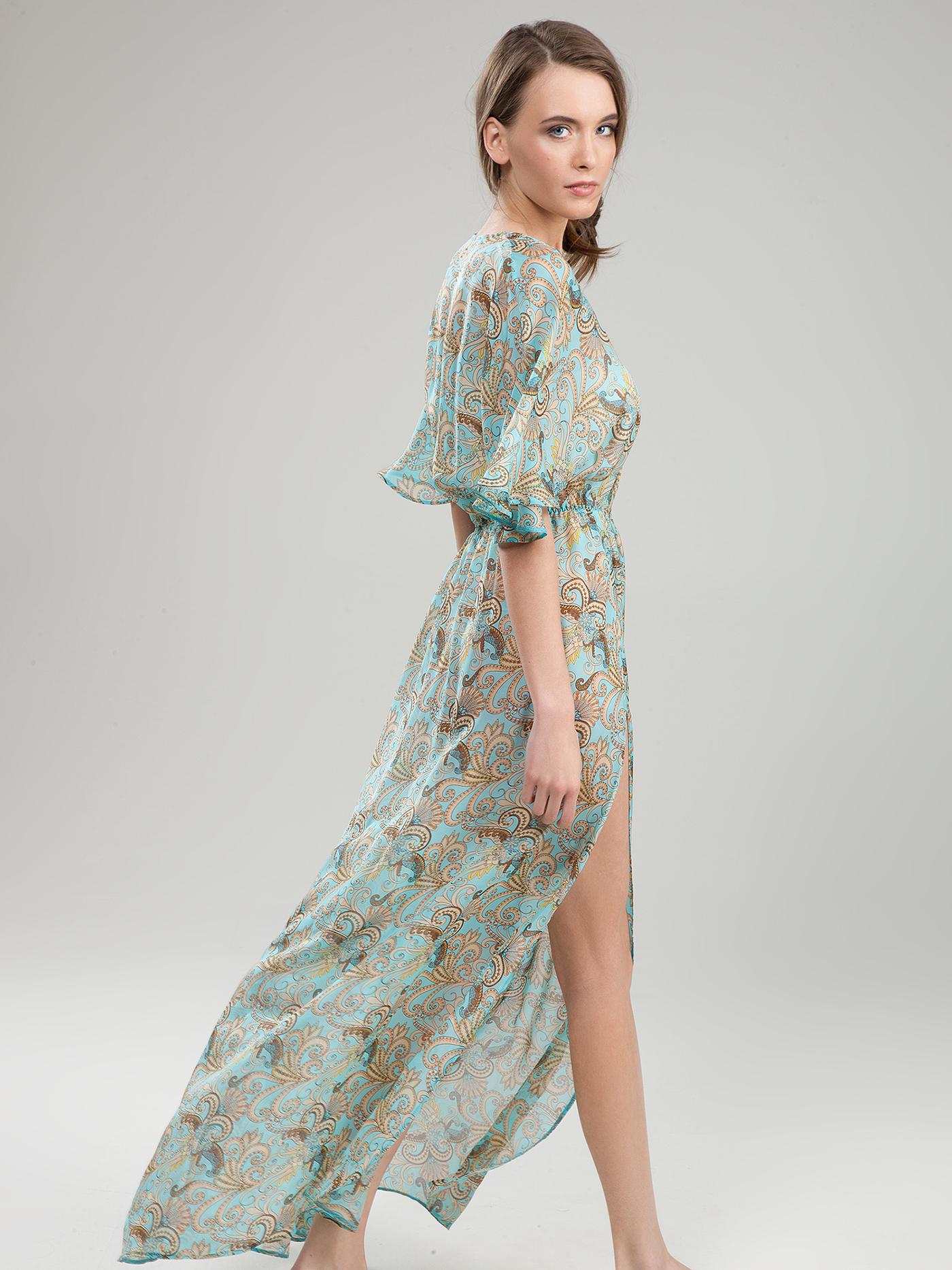 Платье croisette blue romance beachБюстье<br>платье<br><br>Цвет: Принт пейсли голубой<br>Декор: Без декора<br>Стилистика: Без стилистики<br>Направление: Бюстье<br>Пол: Женский<br>Материал: 100% ШЕЛК<br>Размер: 3