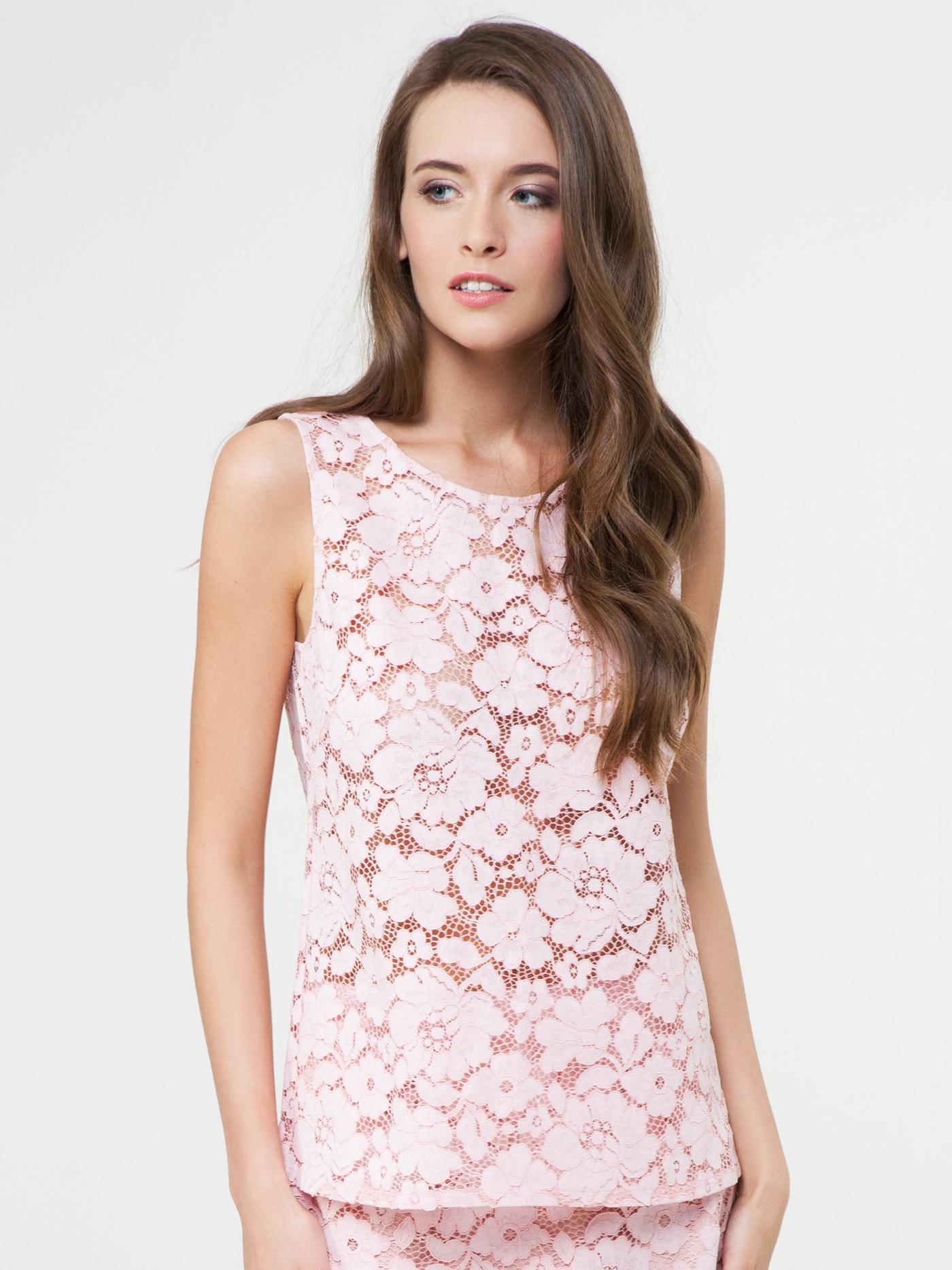Купить Майка croisette rosalia lace, Розовый зефир, 45% ХЛОПОК; 30% ВИ; 25% ПА