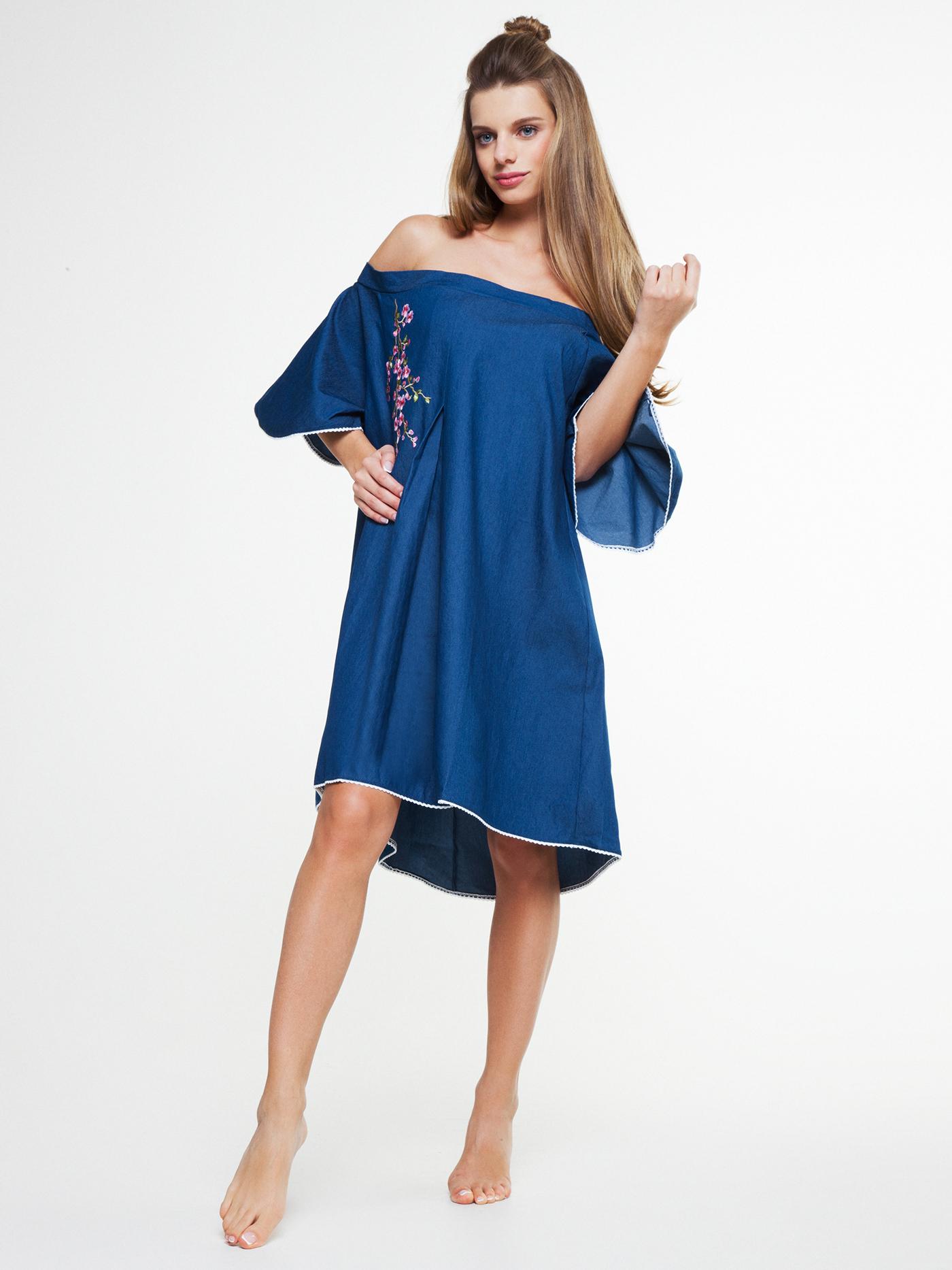 Платье vendetta denimБюстье<br>платье<br><br>Цвет: Глубокий синий<br>Декор: Вышивка<br>Стилистика: Без стилистики<br>Направление: Бюстье<br>Пол: Женский<br>Материал: 65%ХЛОПОК, 33%ПЛ, 2%ЭЛ<br>Размер: 2