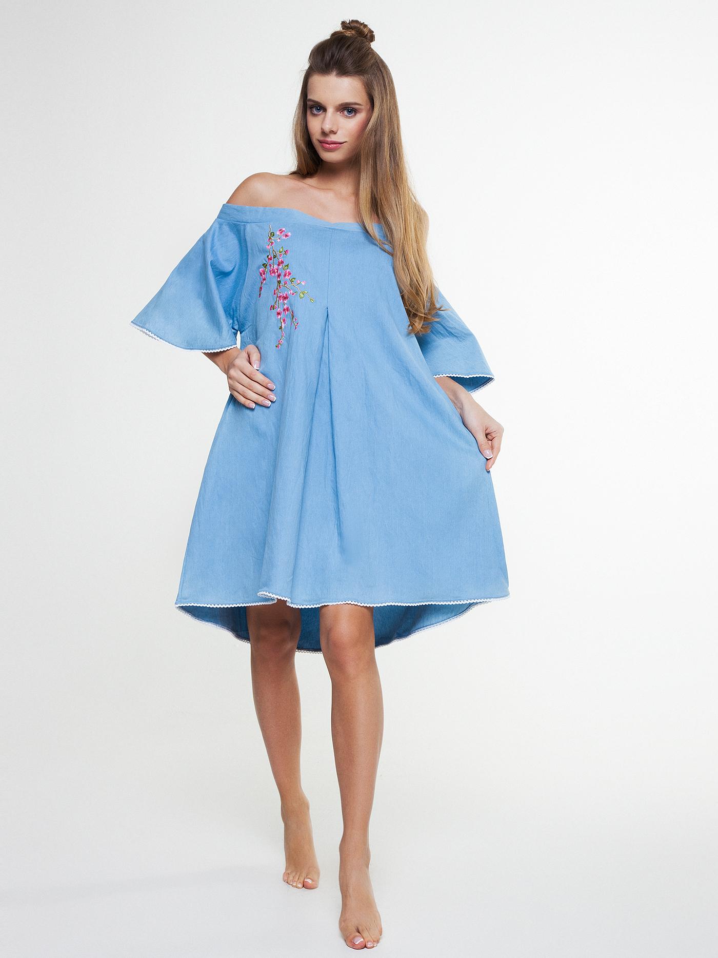 Платье vendetta denimБюстье<br>платье<br><br>Цвет: Синий<br>Декор: Вышивка<br>Стилистика: Без стилистики<br>Направление: Бюстье<br>Пол: Женский<br>Материал: 65%ХЛОПОК, 33%ПЛ, 2%ЭЛ<br>Размер: 2