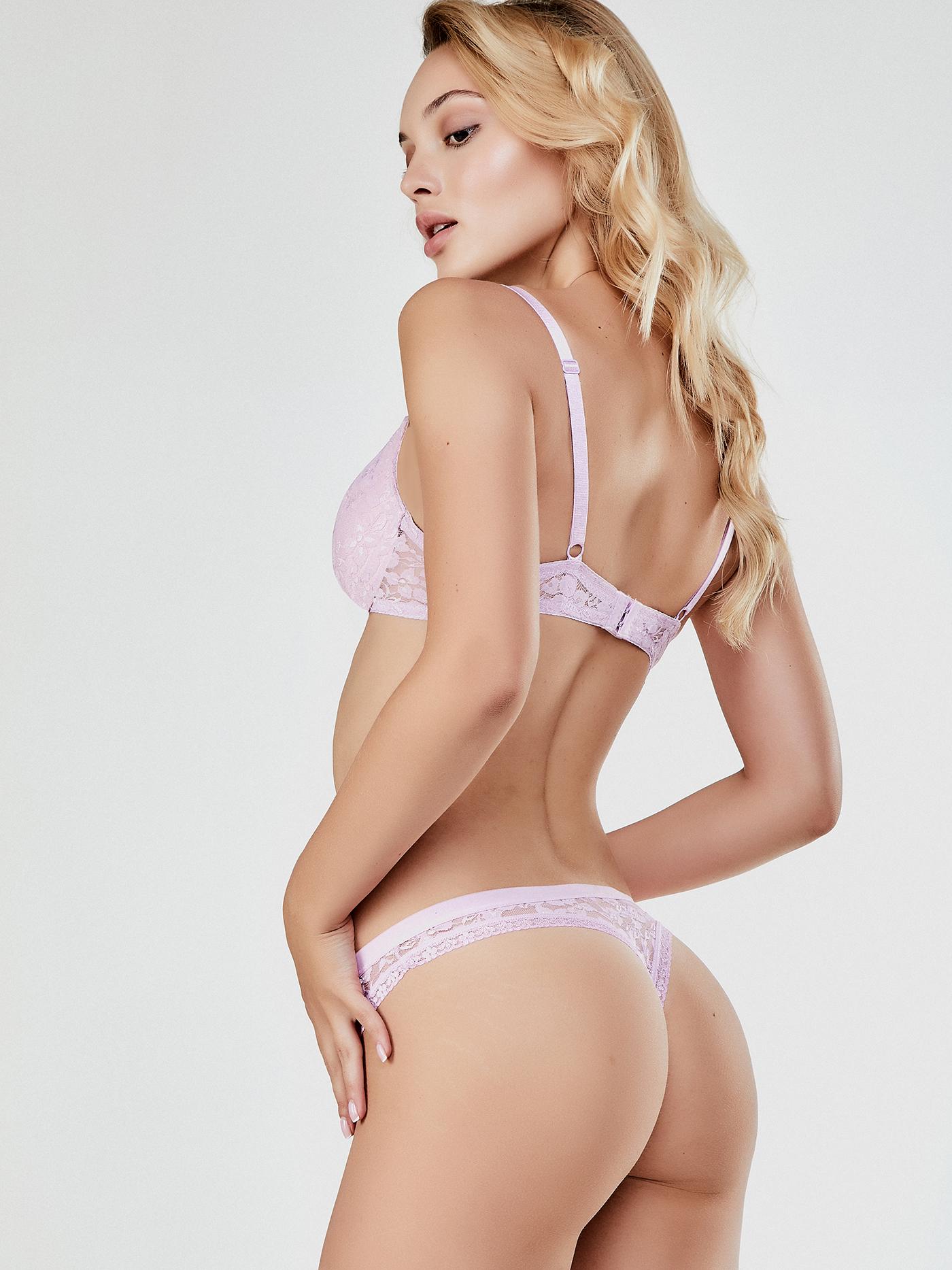 Купить Трусы стринг дефиле carly, Розовый зефир, 95%ПА, 5%ЭЛ/100%ХЛОПОК